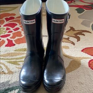 Black Hunter Short Rain Boots